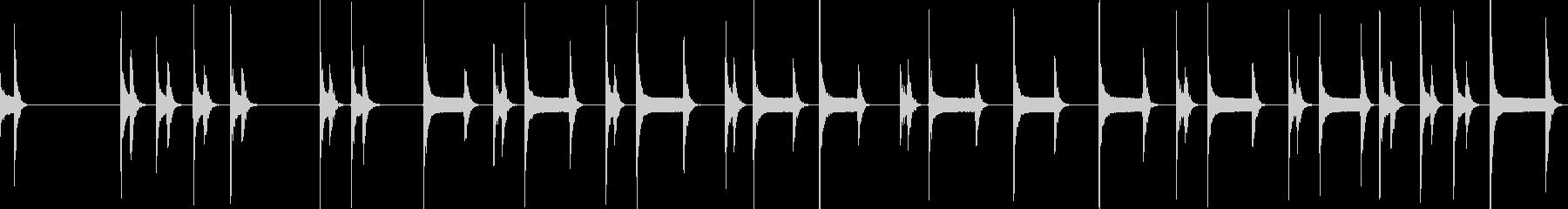 手打ちしたモールス信号の未再生の波形