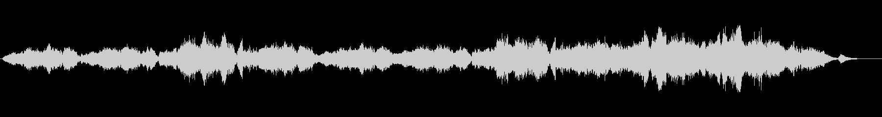 ゆったりとした癒し系オーケストラ楽曲の未再生の波形