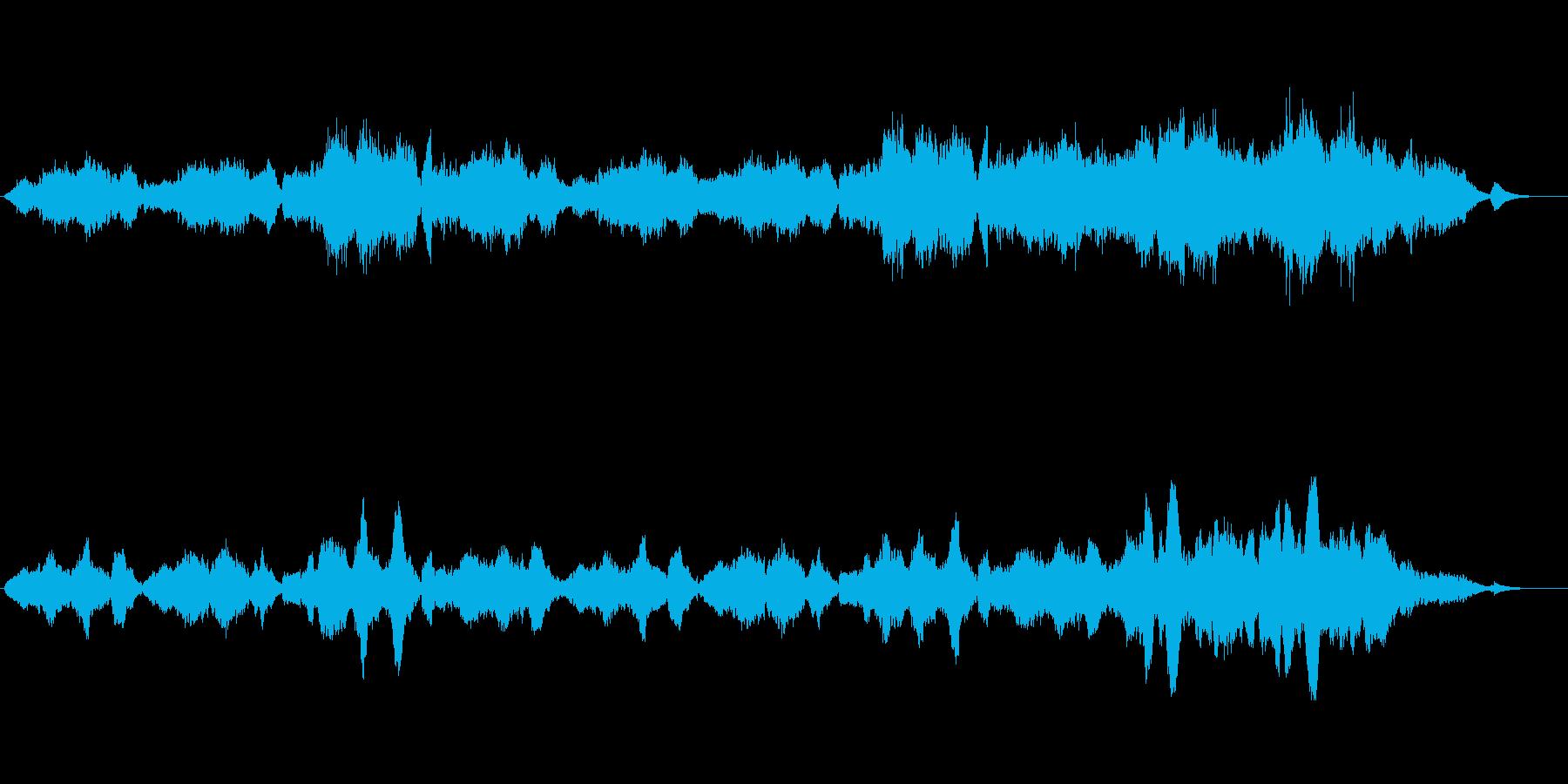 ゆったりとした癒し系オーケストラ楽曲の再生済みの波形