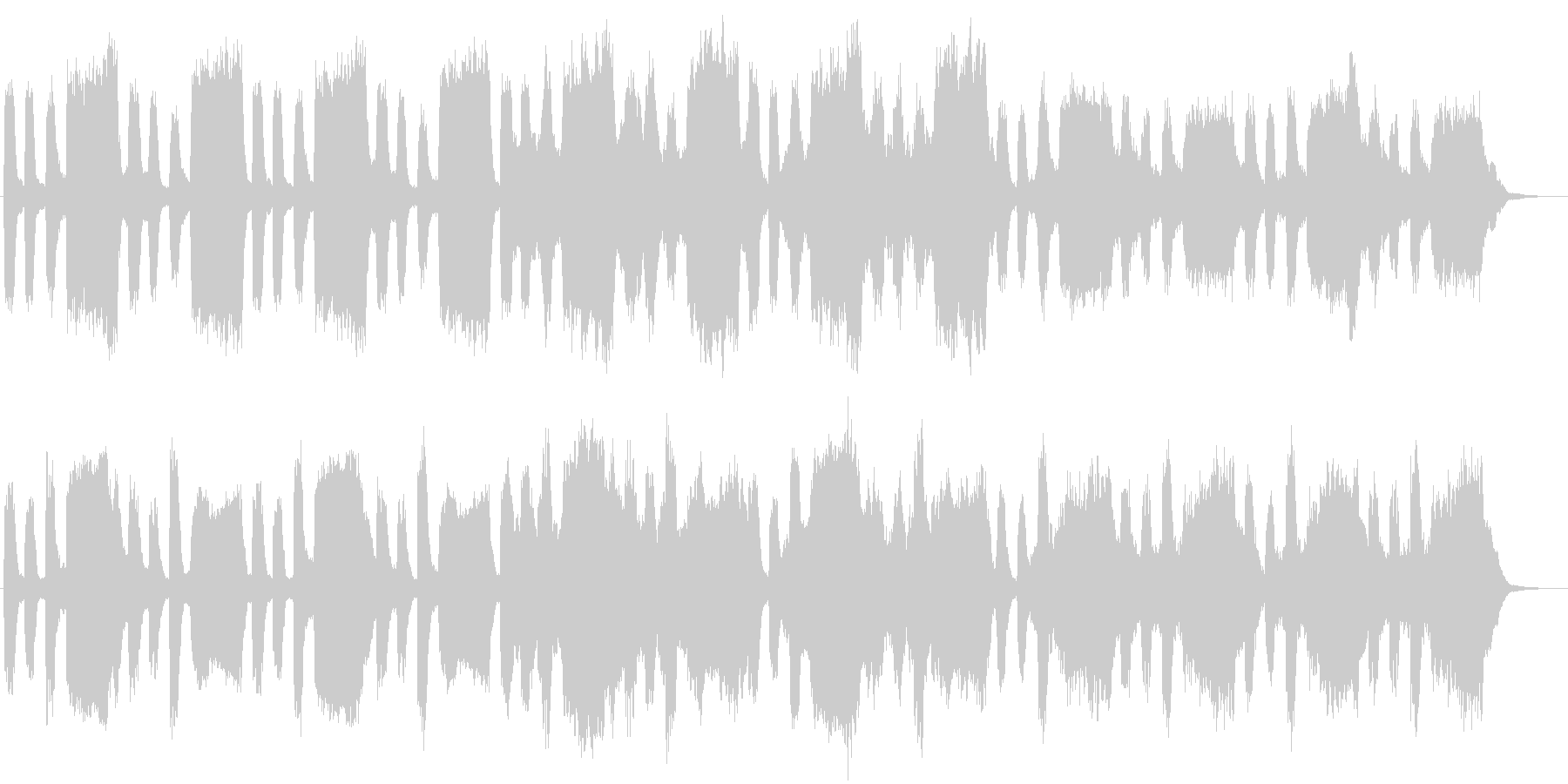 暗闇に潜むものを暗示する不安なBGMの未再生の波形