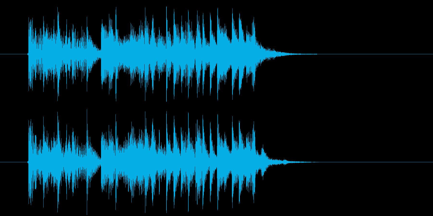 アップテンポでおしゃれなテクノのジングルの再生済みの波形