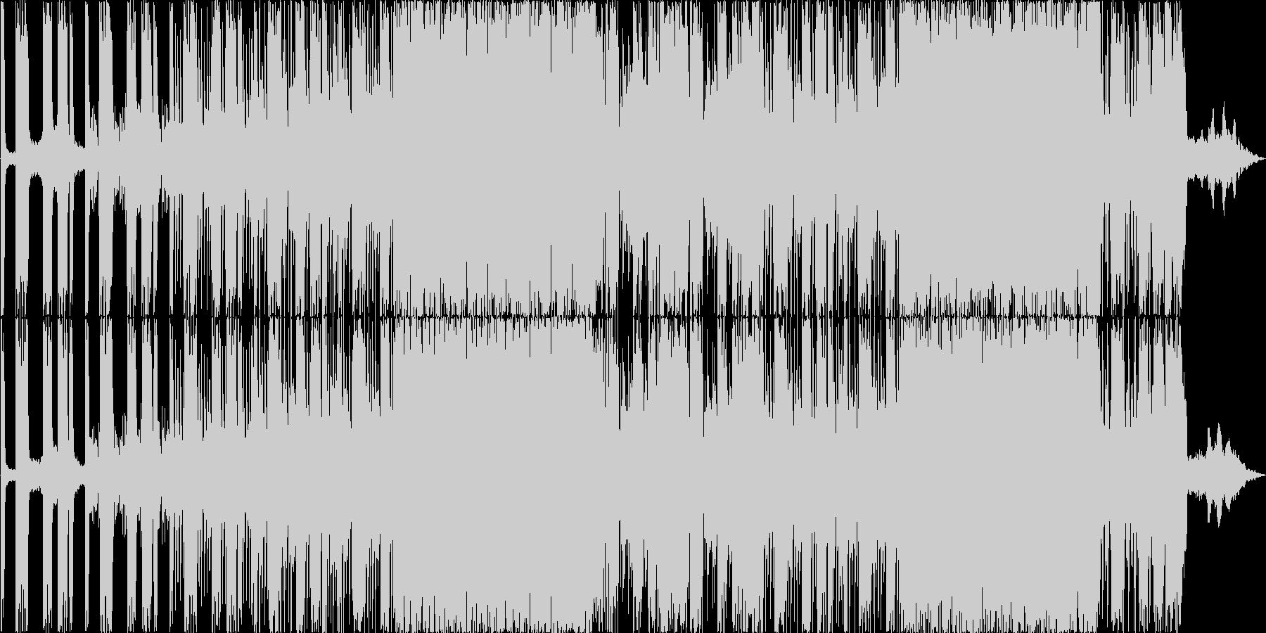 ダークで重めなダンスロックBGMの未再生の波形