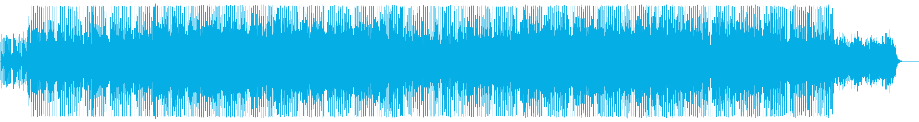 Rhythmic, medium tempo sound's reproduced waveform