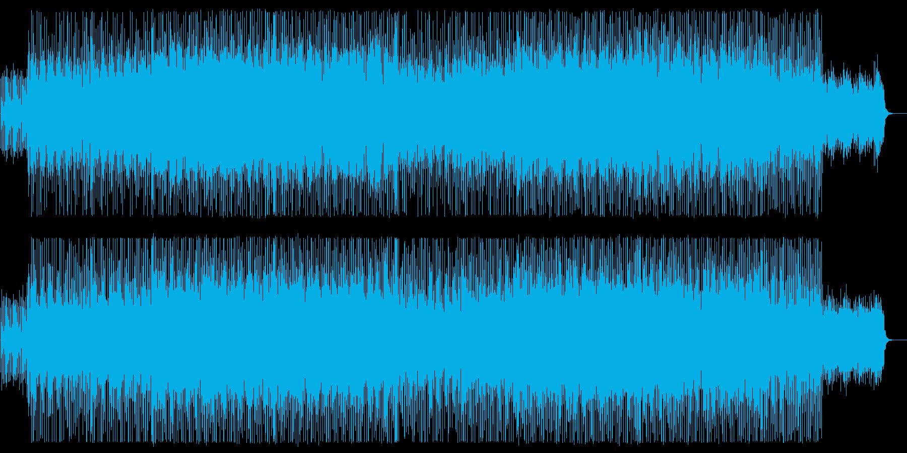 リズミカルでミディアムテンポなサウンドの再生済みの波形