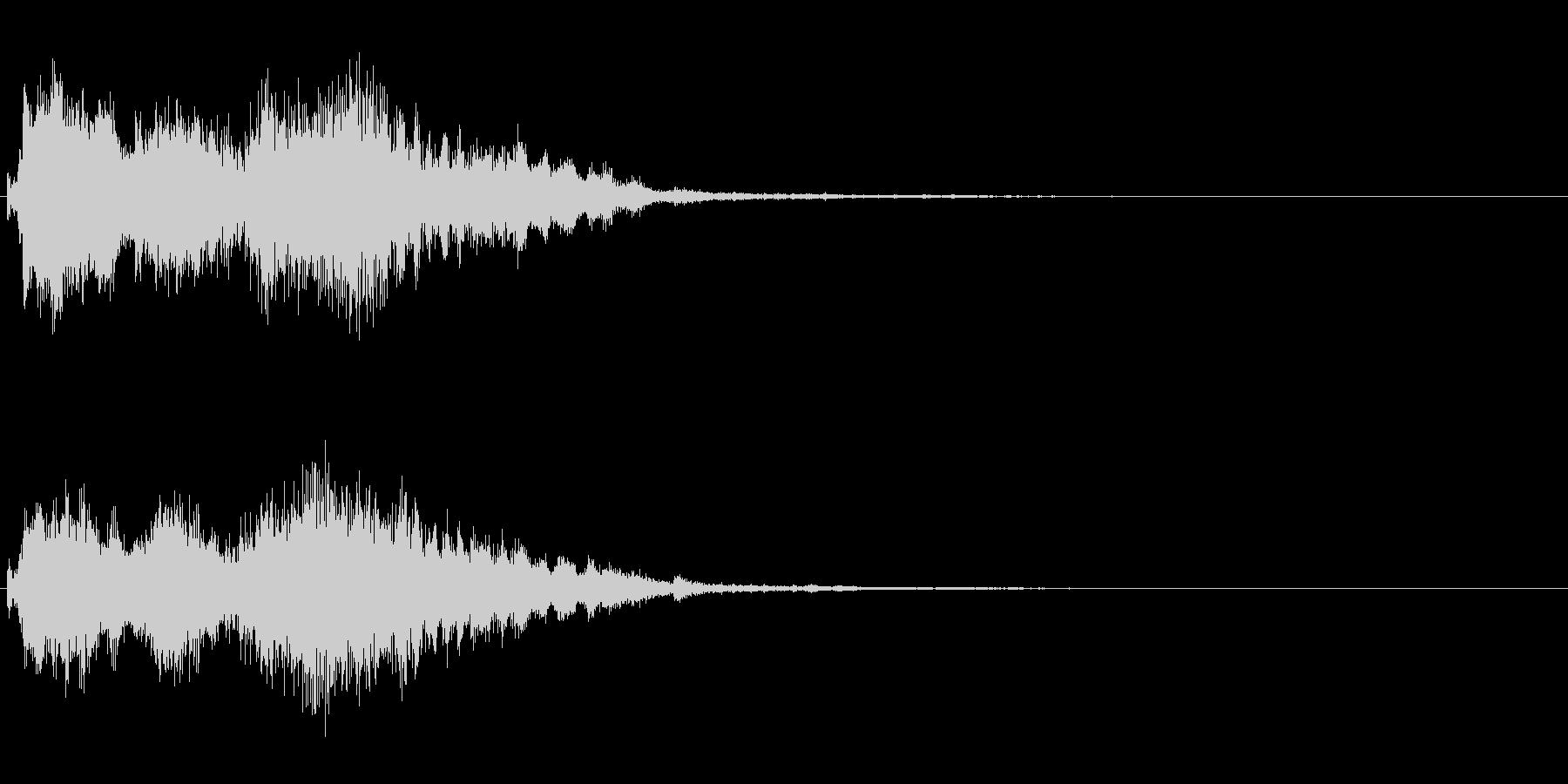 ジングル エレクトロニカ 和風の未再生の波形