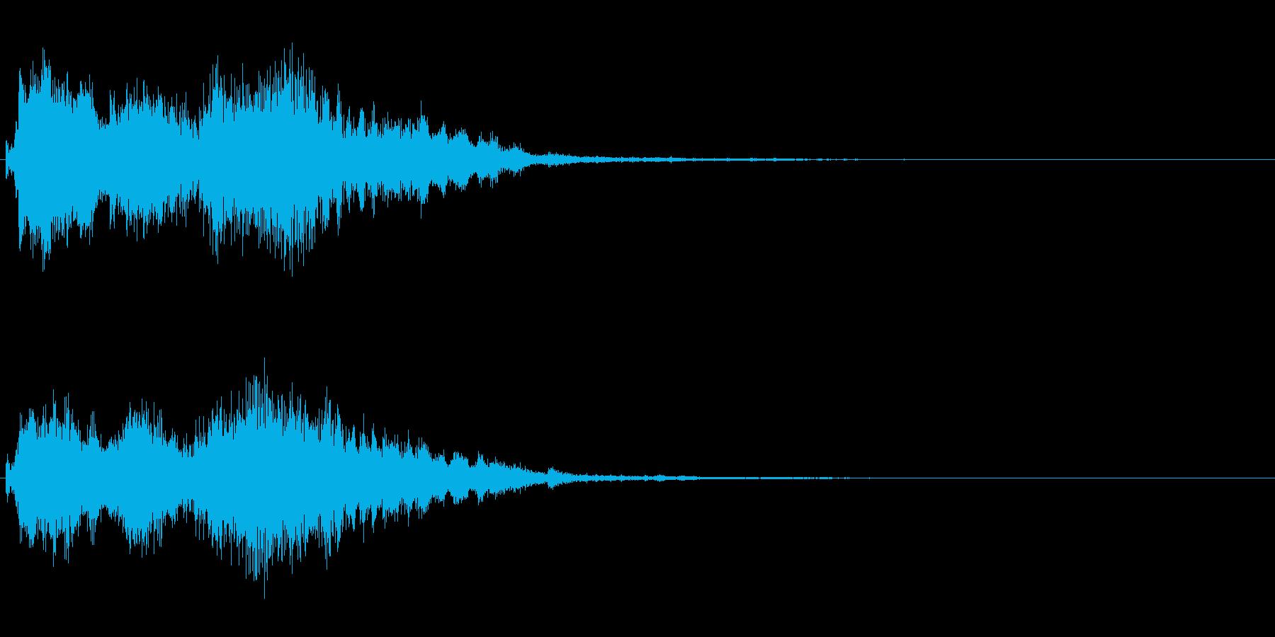 ジングル エレクトロニカ 和風の再生済みの波形