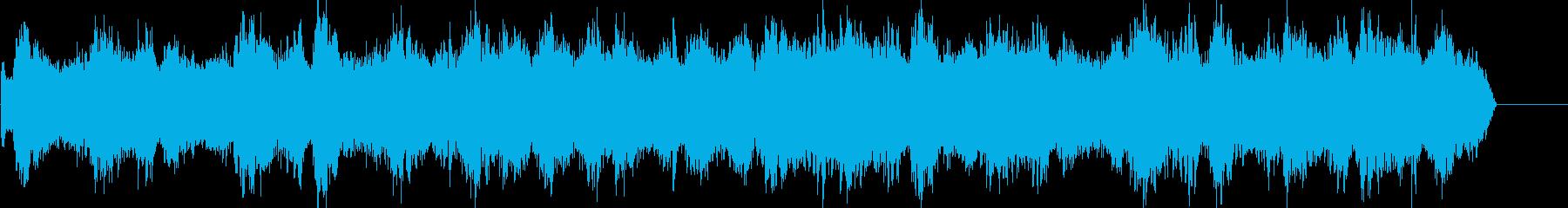 ゆったりとしたヒーリング系ミュージックの再生済みの波形