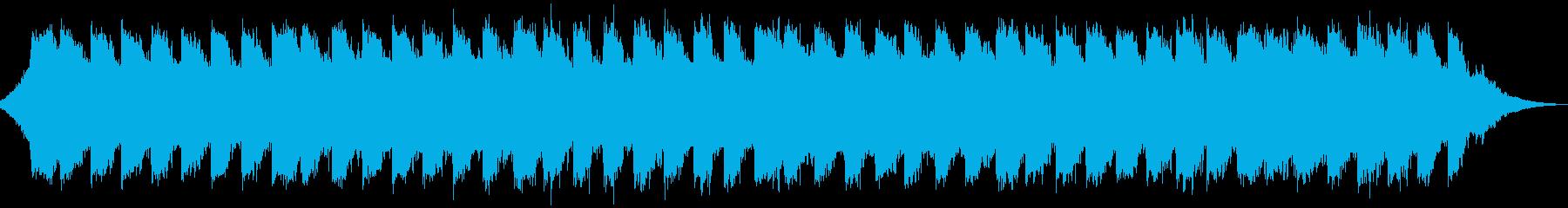 水の音が幻想的なヒーリングミュージックの再生済みの波形