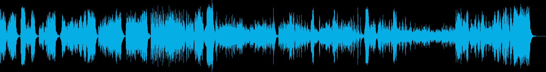 トッカータとフーガ・バイオリンソロの再生済みの波形