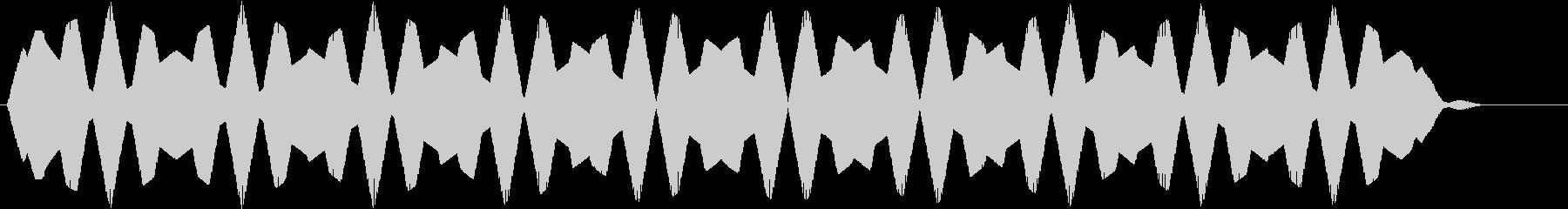 UFOが現れた効果音の未再生の波形
