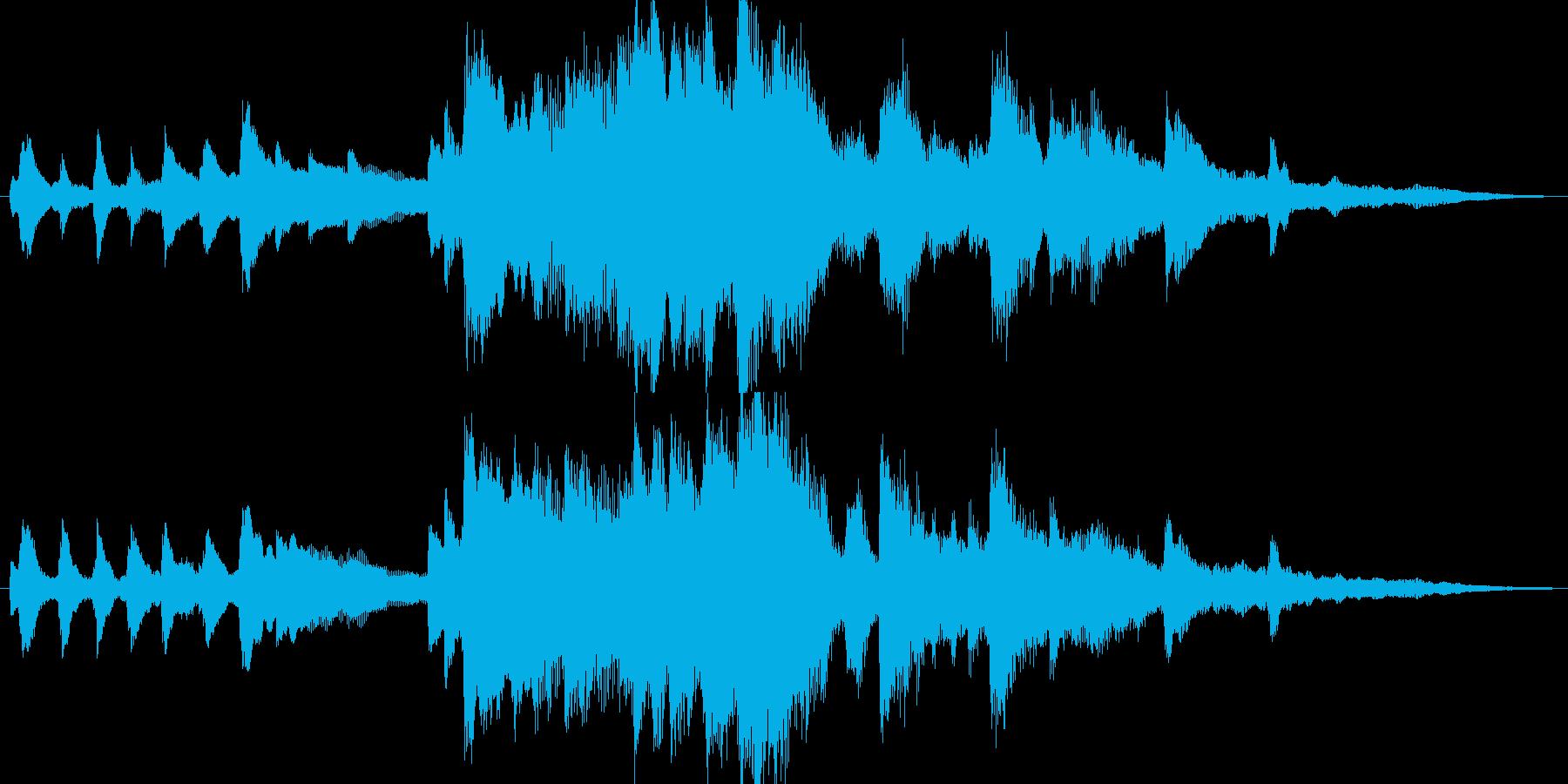しっとりとしたピアノの18秒BGMの再生済みの波形