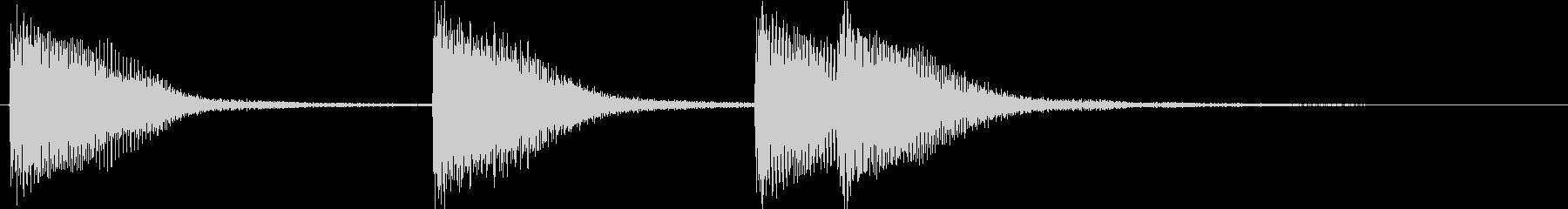 ピアノジングル 幼児向けアニメ系D-03の未再生の波形