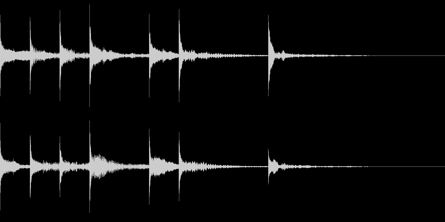 オチ、締めなどに使える可愛い木琴の音の未再生の波形