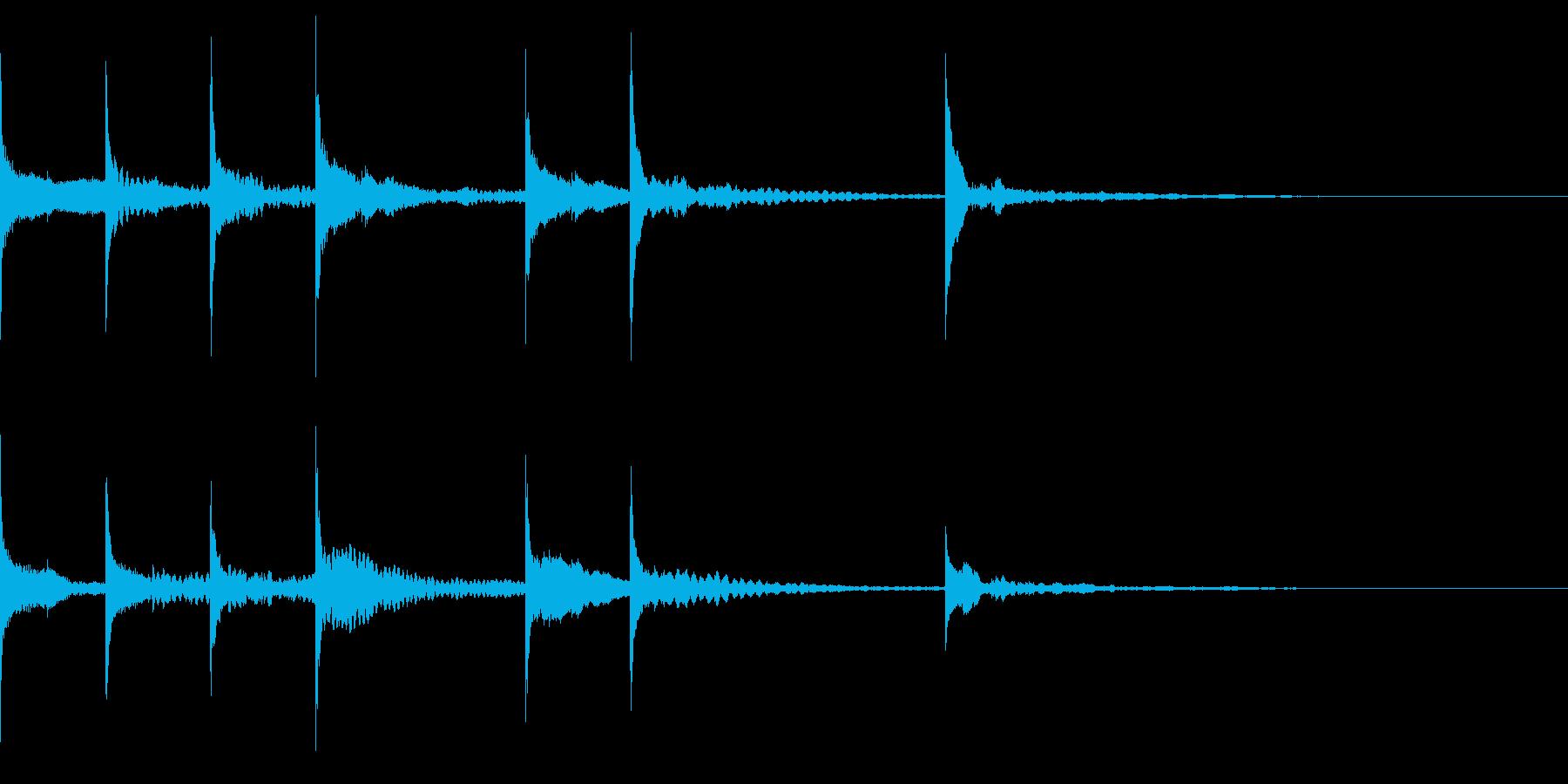 オチ、締めなどに使える可愛い木琴の音の再生済みの波形