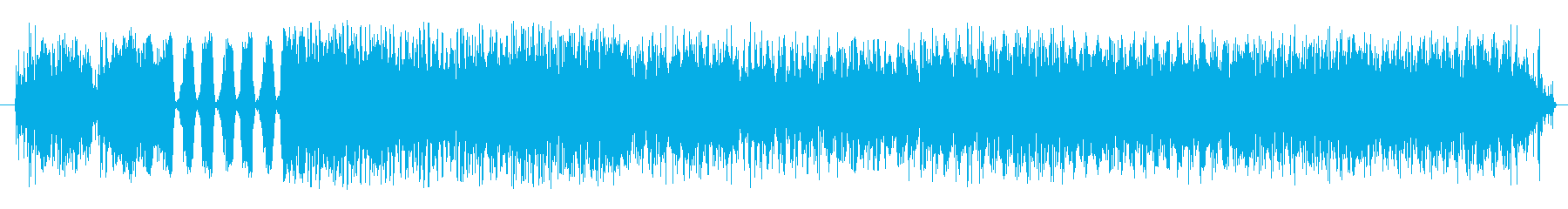 終わりの再生済みの波形