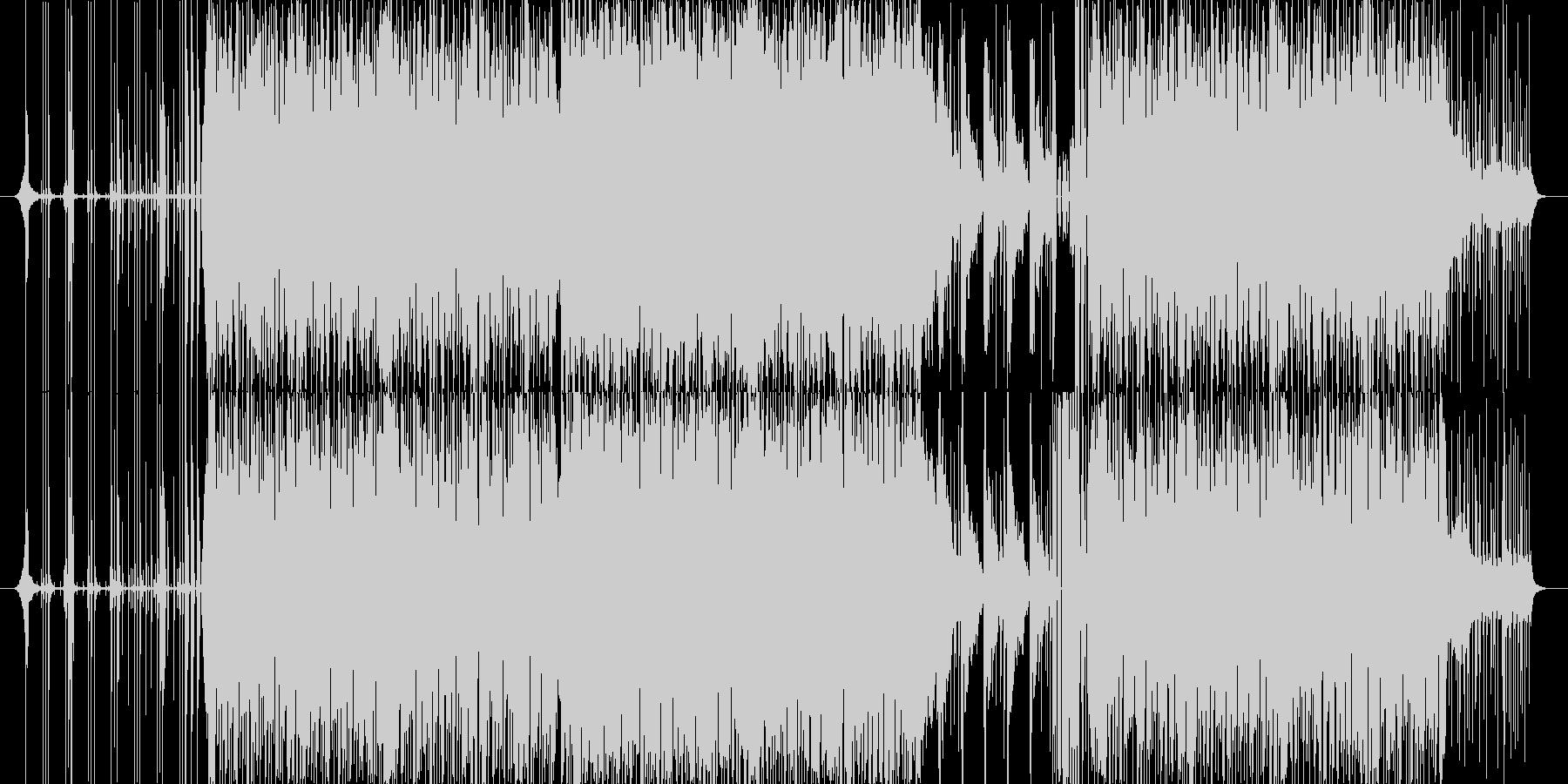 パーカッシブなリズミックテクノの未再生の波形