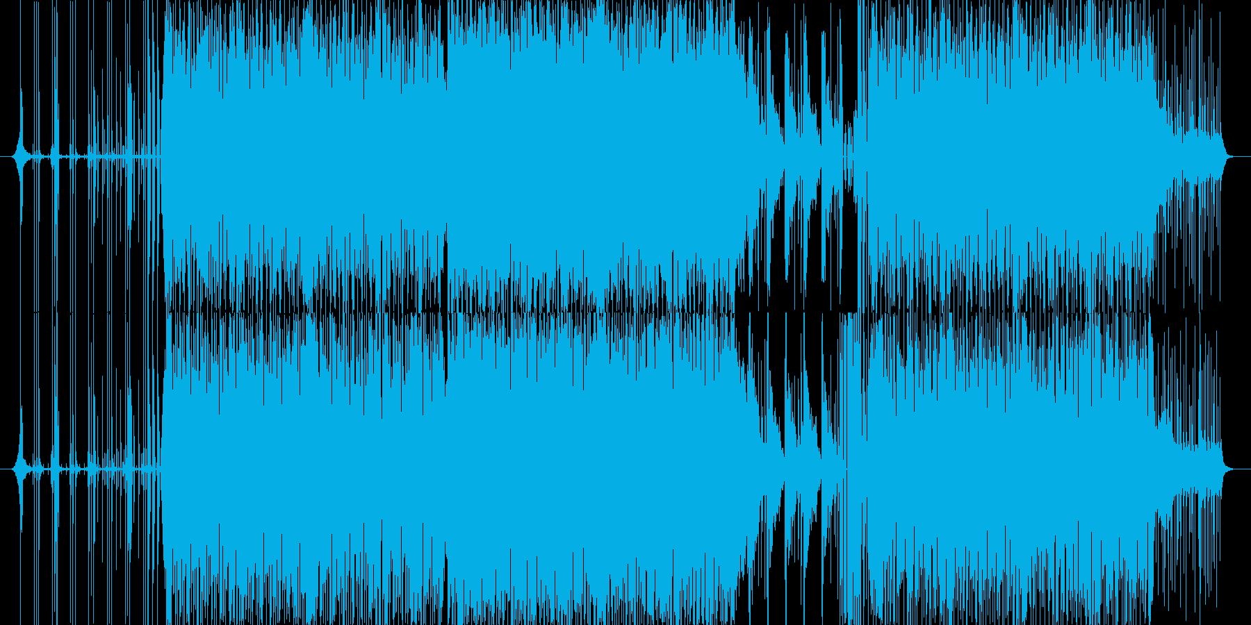 パーカッシブなリズミックテクノの再生済みの波形
