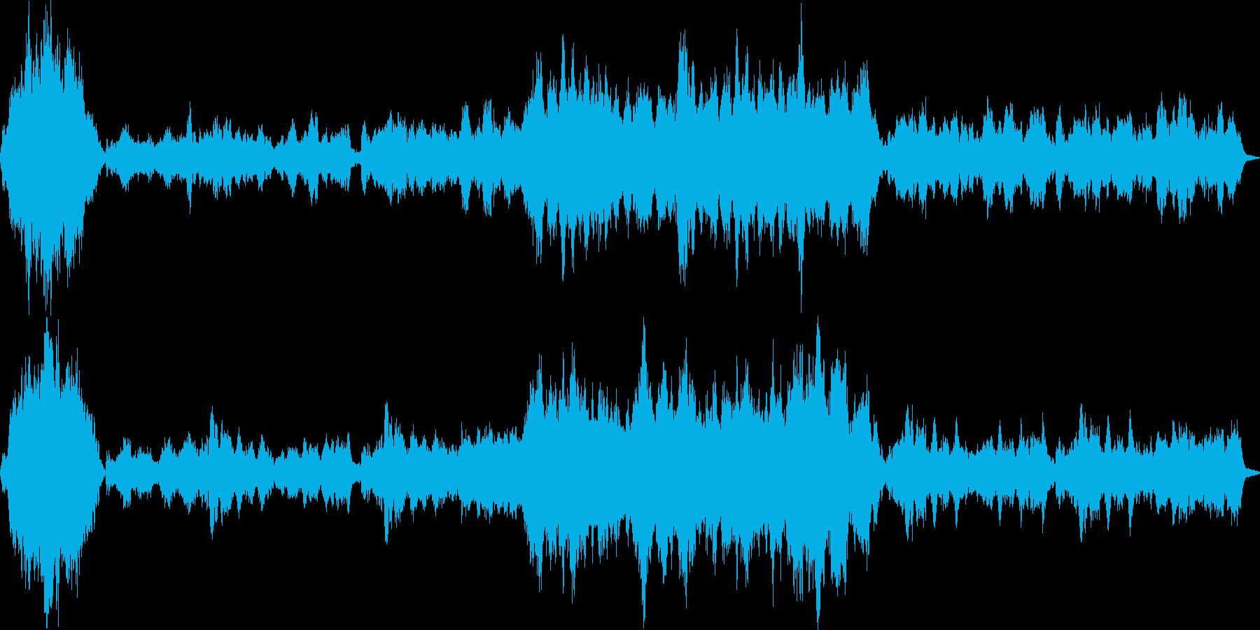 悲壮感漂うオーケストラによる回想シーン曲の再生済みの波形