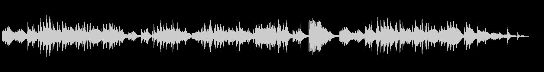 ヒーリング・イージーリスニングのピアノ曲の未再生の波形
