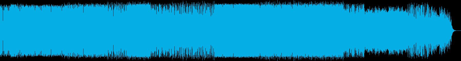 オルガンとシンセソロ入りの深海イメージ曲の再生済みの波形