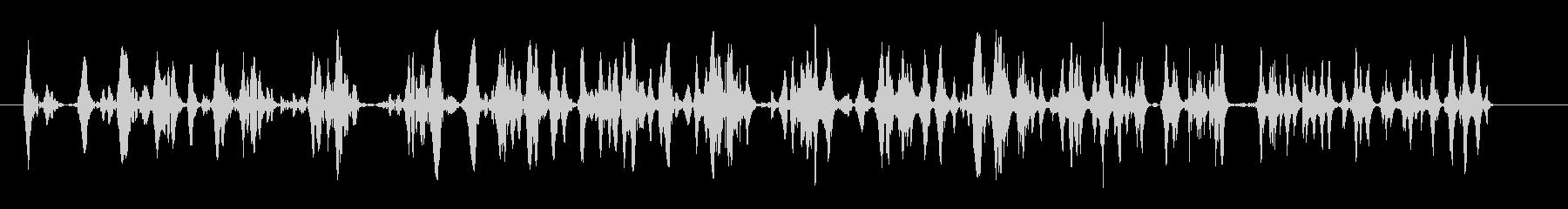 泡が連続でわき上がる音の未再生の波形