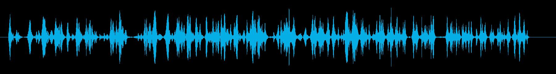泡が連続でわき上がる音の再生済みの波形