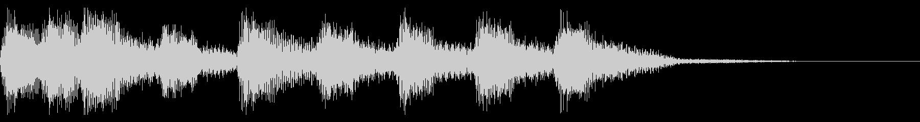 8bit レトロゲーム風 場面転換の未再生の波形