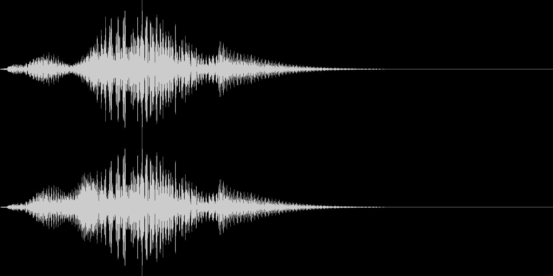 コミカルで超かわいいサウンドロゴ の未再生の波形