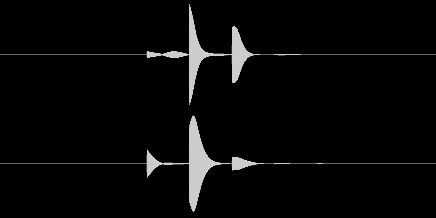 ピピピ(決定音)、タッチ、ボタン、電子音の未再生の波形