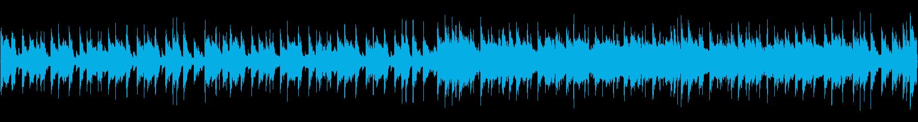 元気はつらつなループ用BGMの再生済みの波形