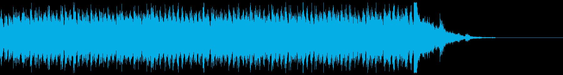 電車の発車メロディー 発着音の再生済みの波形