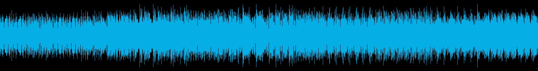シンプル・ファンキーなディスコな曲の再生済みの波形