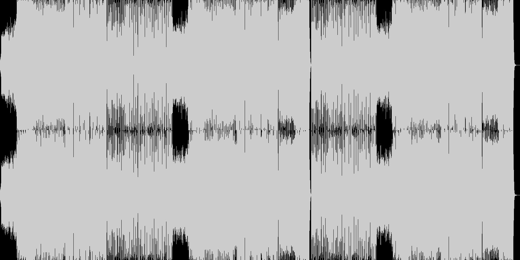 激しいエキサイティングCMスポーツEDMの未再生の波形