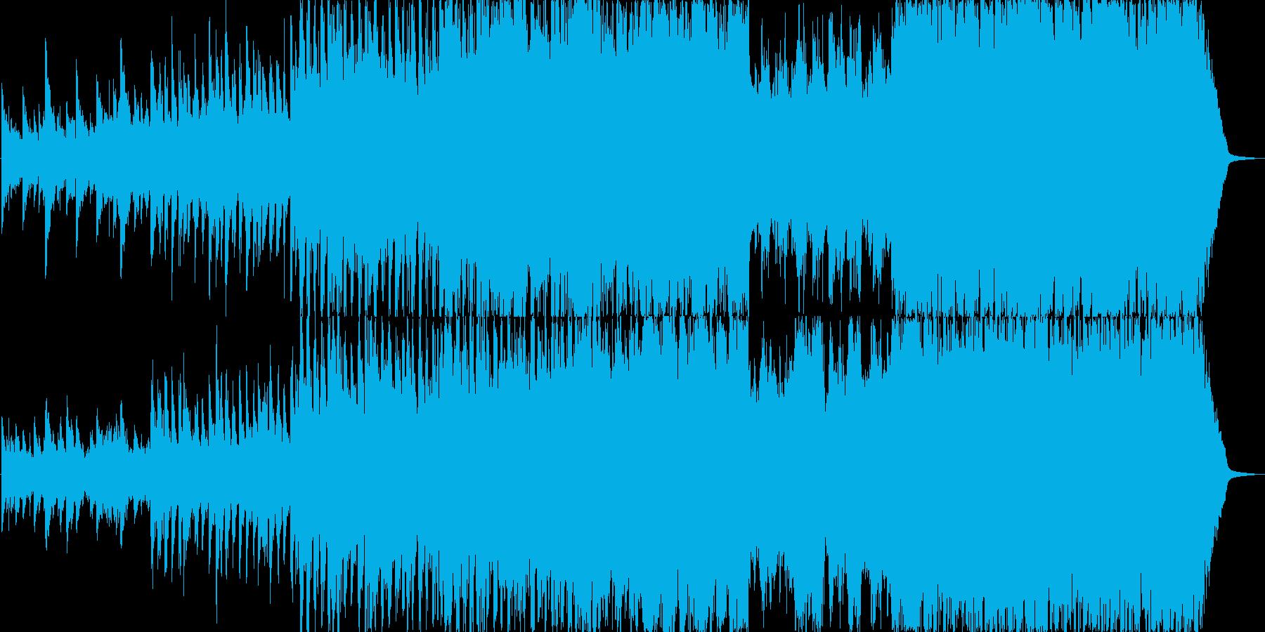 ポジティブなピアノ、オーケストラ楽曲の再生済みの波形
