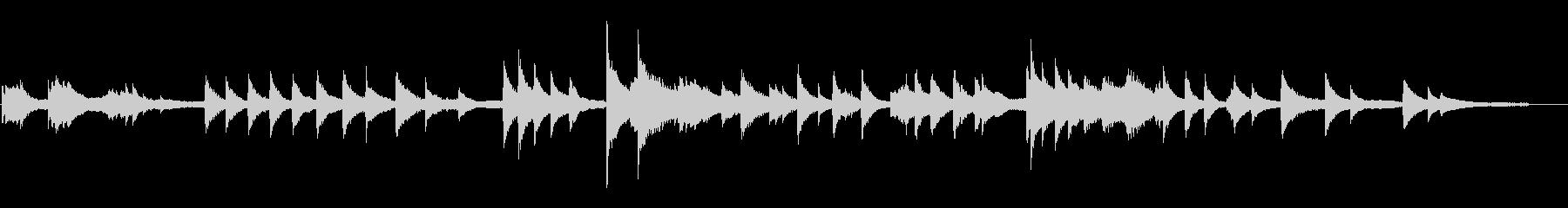 カオスティックなピアノ2の未再生の波形