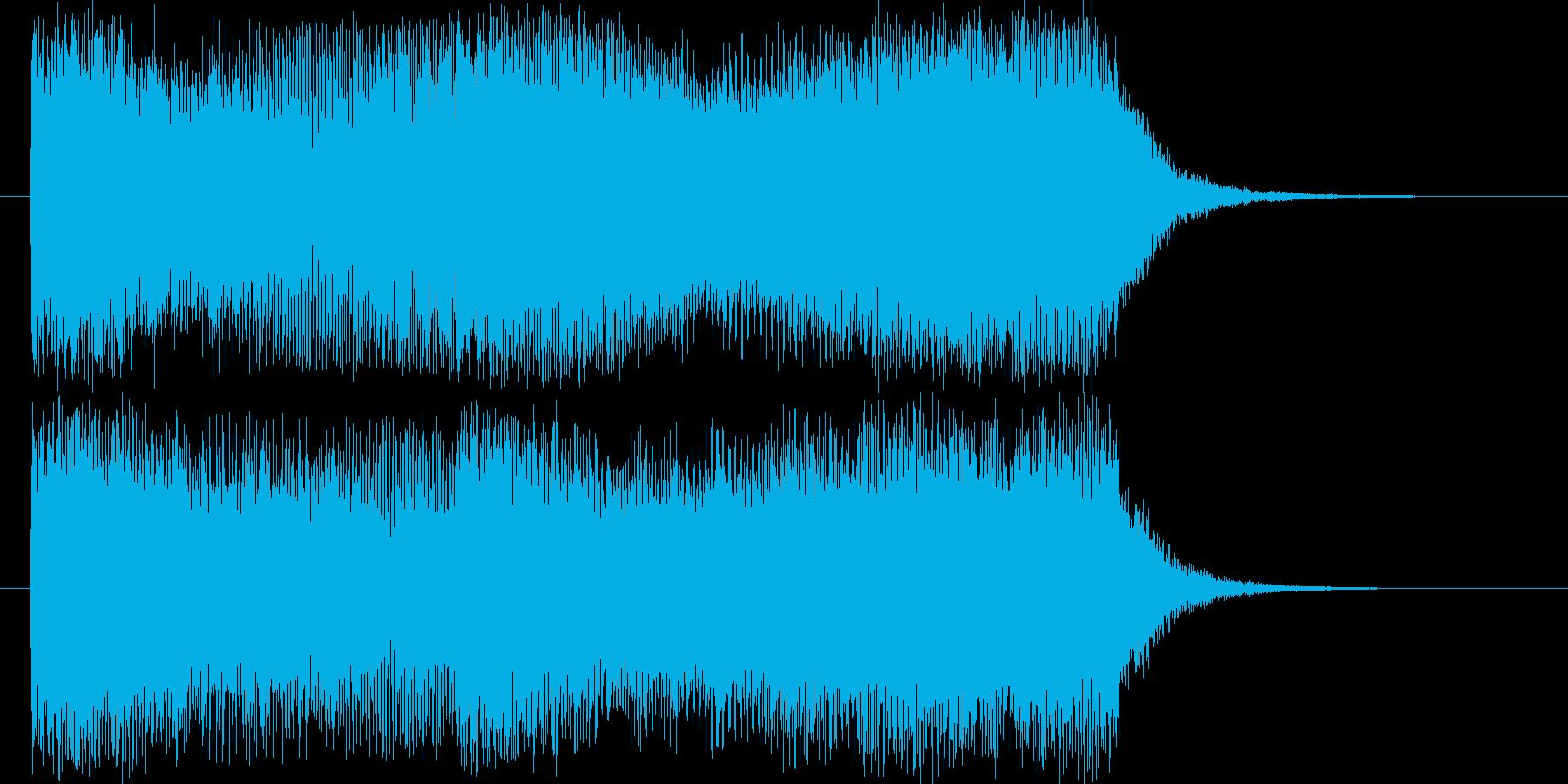 勝利やクリアをイメージした8秒の短いジ…の再生済みの波形