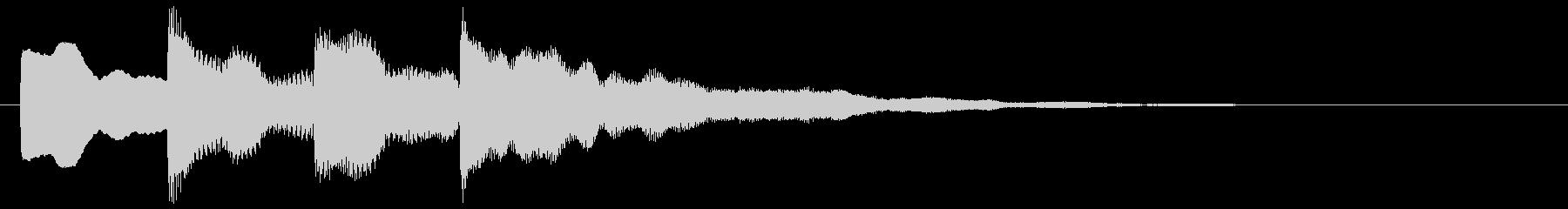 アナウンス(ピンポンパンポーン)2の未再生の波形