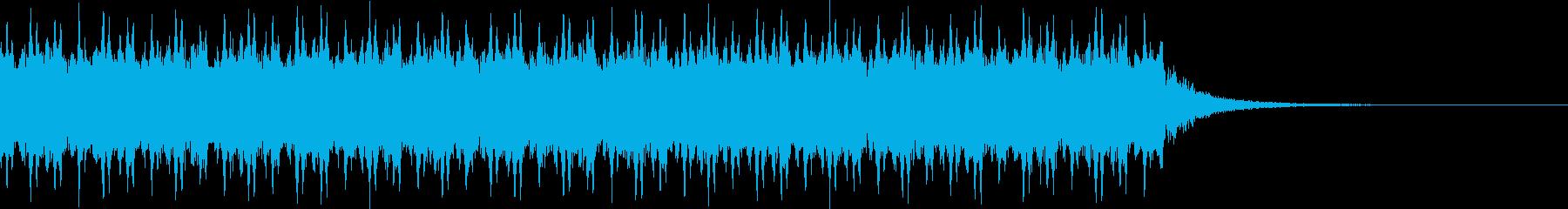 レーザー銃を発射する音の再生済みの波形