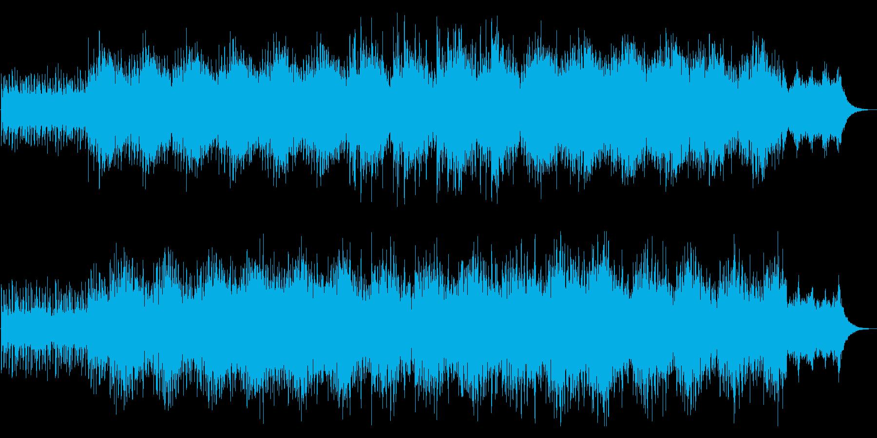 『気球に乗って』穏やかなヒーリング音楽の再生済みの波形
