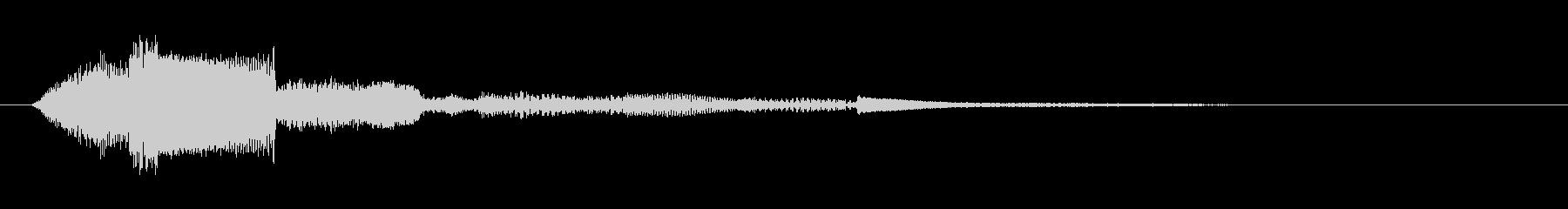 お知らせ・通知・受信音(ティロン)の未再生の波形