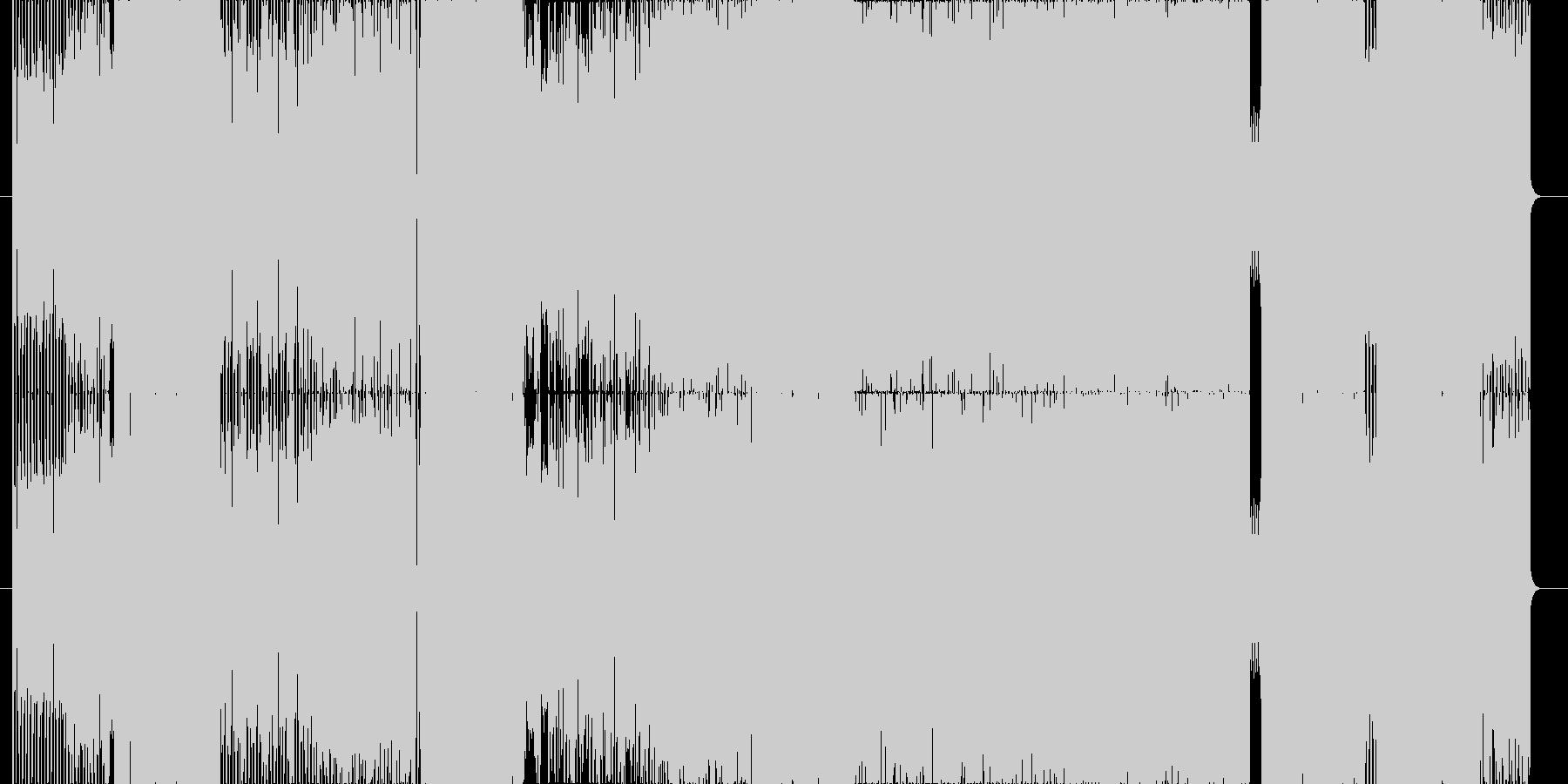 どこかで聴いたことのあるリフ一発ロックの未再生の波形
