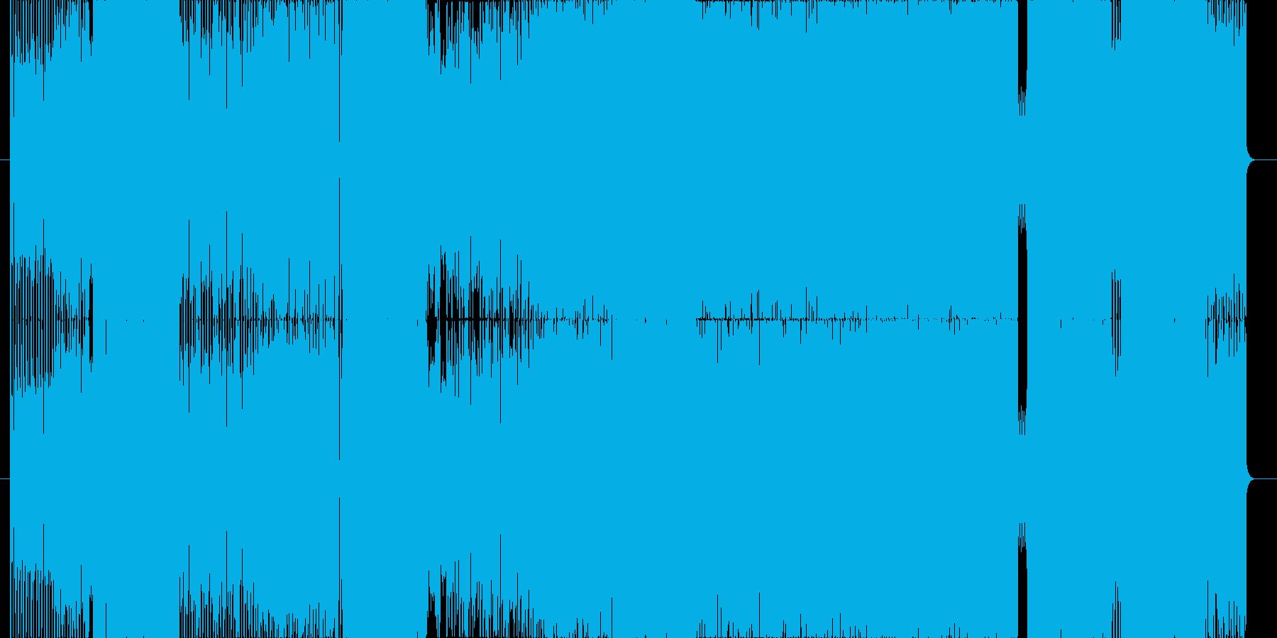 どこかで聴いたことのあるリフ一発ロックの再生済みの波形