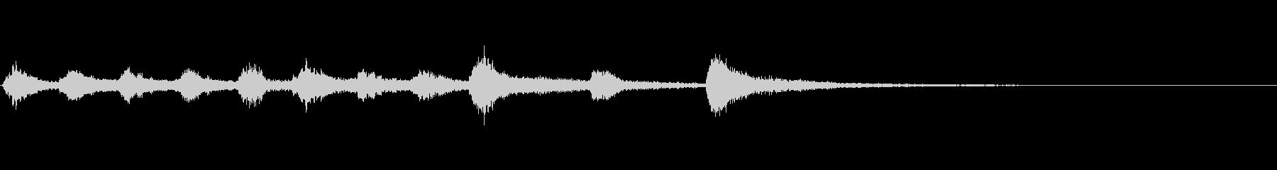 ピッツィカートによるかわいいジングル2の未再生の波形
