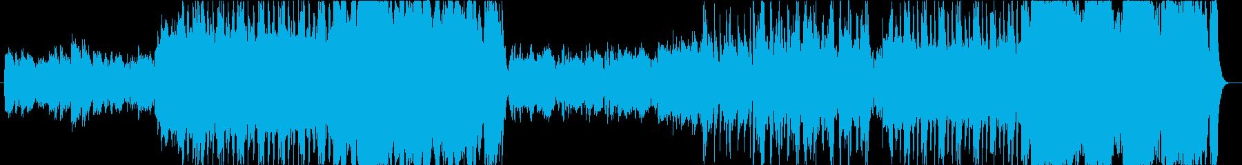 オーケストラ風の曲です。の再生済みの波形