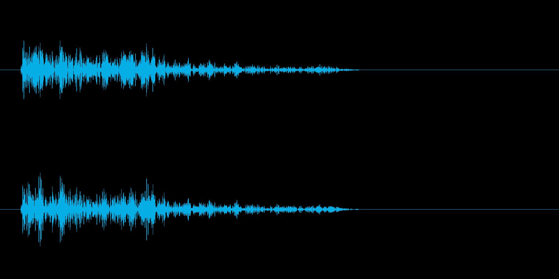 バーン(爆発音)3の再生済みの波形