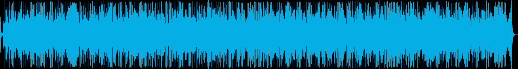 活気あるインフォメーションミュージックの再生済みの波形