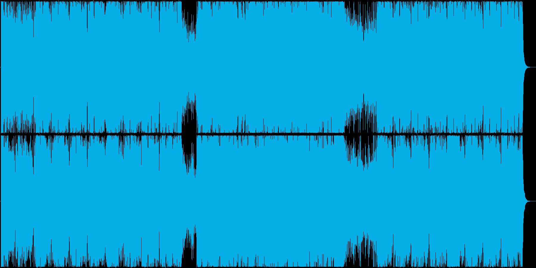 ゲーム 機械・工場ステージ風BGMの再生済みの波形