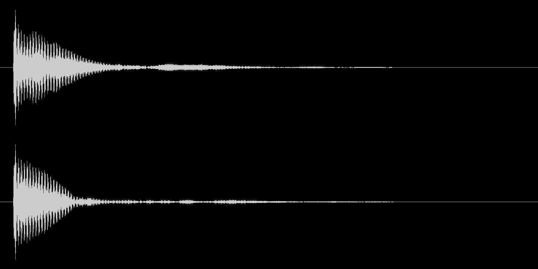 ポン カーソル音 タップ音 D#-04_の未再生の波形