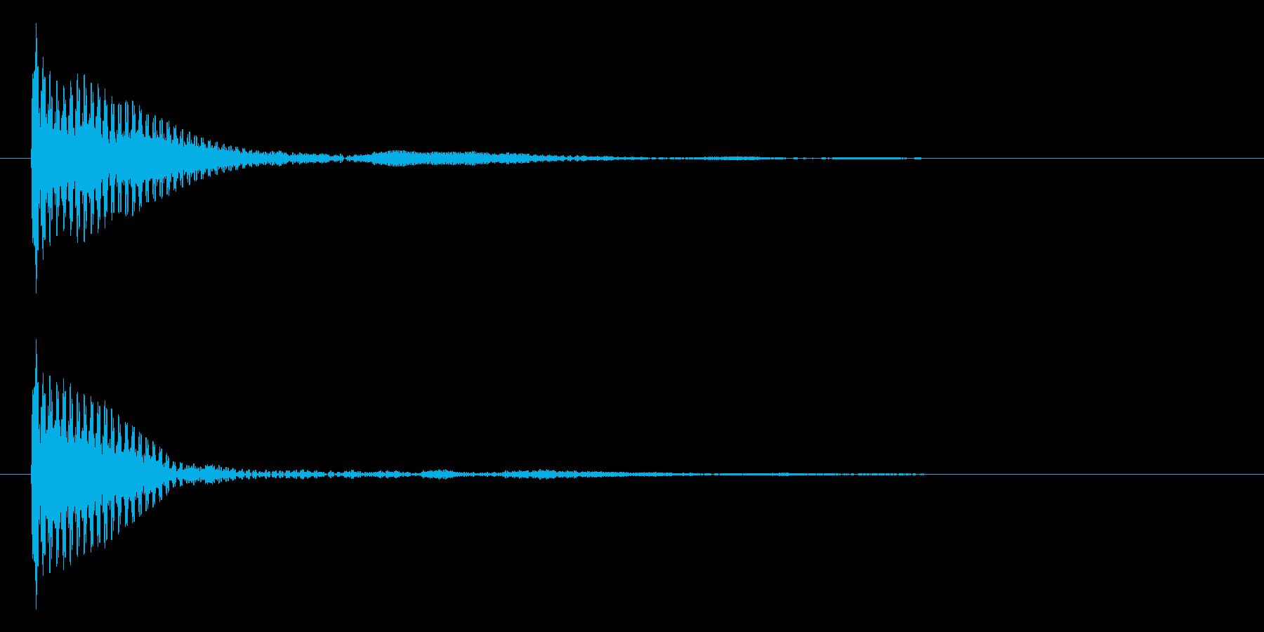 ポン カーソル音 タップ音 D#-04_の再生済みの波形