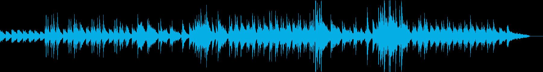 落ち着いた雰囲気の日常系BGMの再生済みの波形